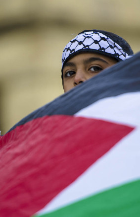 Palestine protest City Hall