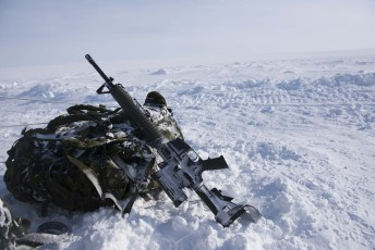 Canadian Forces equipment lies on the snow during Operation Nunalivut near Resolute,NU on Saturday Apr 9, 2016. Operation Nunalivut featured over 200 personal from every branch of the Canadian Forces and military partners from the United States and Denmark. Gavin John/Special to PostMedia Network