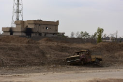 Ruined houses and destroyed vehicles litter the Iraqi town of Bishaqa, Iraq on Thursday Nov 10, 2016. The town was liberated two days ago by Iraqi Peshmerga forces along with reports of Canadian Special Forces. Gavin John
