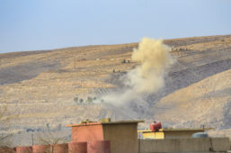 An IED laid by ISIS fighters explodes in Bishaqa, Iraq on Thursday Nov 10, 2016. The town was liberated two days ago by Iraqi Peshmerga forces along with reports of Canadian Special Forces. Gavin John